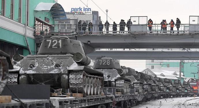俄羅斯舉行儀式歡迎老撾移交T-34坦克