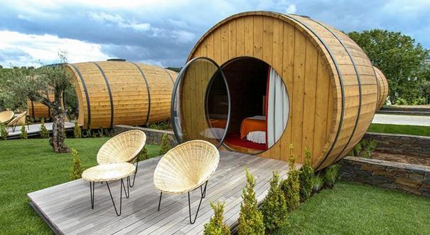 葡萄牙新穎桶形酒店配置齊全 造型獨特