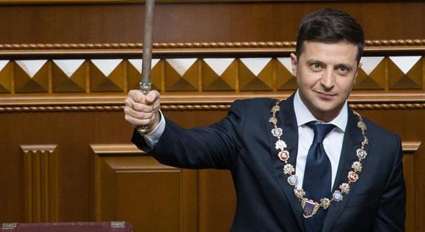 烏克蘭當選總統澤連斯基宣誓就職