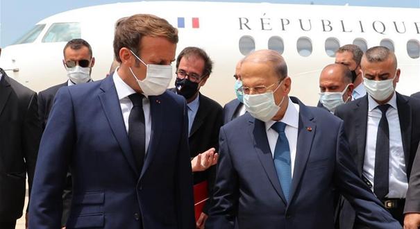 法國總統馬克龍訪問黎巴嫩
