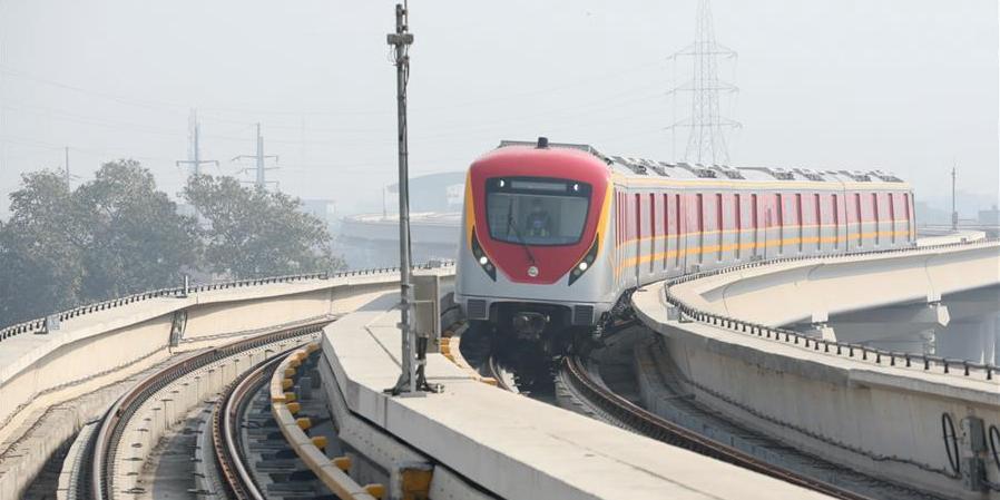 中巴經濟走廊拉合爾軌道交通橙線項目正式運營