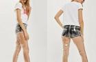 英國高街品牌推出透明塑料牛仔褲